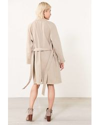 BDG - Blue Marci Canvas Trench Coat - Lyst