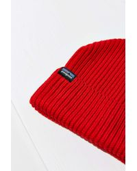 Patagonia - Red Fisherman's Rolled Beanie - Lyst