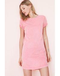 BDG - Pink Morisette T-shirt Dress - Lyst