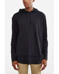 Urban Outfitters | Black Double Layer Hooded Long Sleeve Tee for Men | Lyst