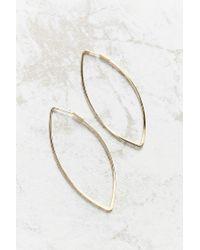 Urban Outfitters - Metallic 18k Gold + Sterling Silver Delicate Geo Hoop Earring - Lyst