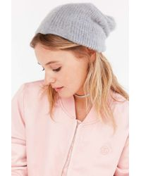 Urban Outfitters | Gray Slouchy Fuzz Ribbed Beanie | Lyst