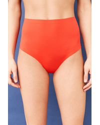 Out From Under - Red Laser-cut High-waisted Panty - Lyst