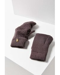 Urban Outfitters - Purple Plush Convertible Fingerless Glove - Lyst