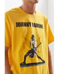 Urban Outfitters - Yellow Johnny Ramone Tee for Men - Lyst