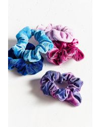 Urban Outfitters - Purple Velvet Hair Scrunchie Set - Lyst