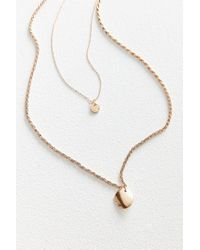 Urban Outfitters - Metallic Jade Double-chain Layering Necklace - Lyst