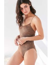 Out From Under - Multicolor Seamless Ribbed Bodysuit - Lyst