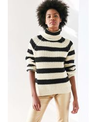 BDG | Black Aria Striped Turtleneck Sweater | Lyst