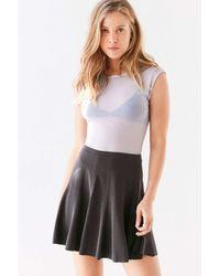 Silence + Noise   Black Spin City Knit Skater Skirt   Lyst