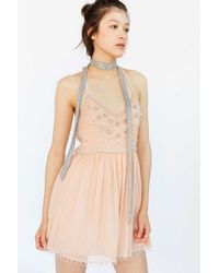 Urban Outfitters | Gray Sequin Skinny Scarf | Lyst