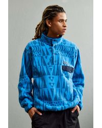 Patagonia   Blue Synchilla Fleece Snap-t Sweatshirt for Men   Lyst