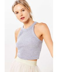 Truly Madly Deeply | Gray Blakeley High Neck Cropped Top | Lyst