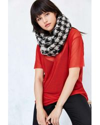 Urban Outfitters   Black Houndstooth Eternity Scarf   Lyst