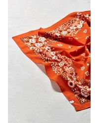 Urban Outfitters - Orange Uo Floral Paisley Bandana for Men - Lyst