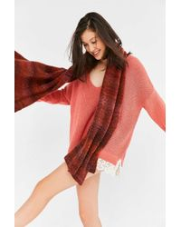Urban Outfitters | Orange Ombre Boucle Scarf | Lyst