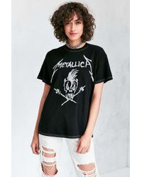 Urban Outfitters   Black Metallica Tee   Lyst