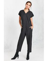 4631d256703 Lyst - Nike Bonded Jumpsuit in Black