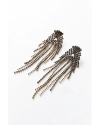 Urban Outfitters - Metallic Shelly Rhinestone Chandelier Post Earring - Lyst