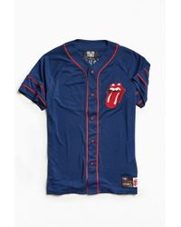 Urban Outfitters | Blue Rolling Stones Baseball Jersey for Men | Lyst