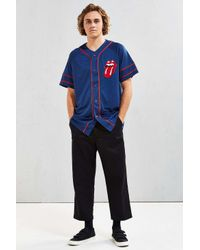 Urban Outfitters - Blue Rolling Stones Baseball Jersey for Men - Lyst