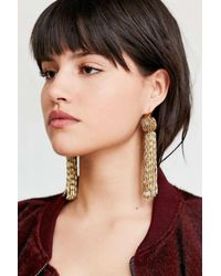 Vanessa Mooney - Metallic Antoinette Tassel Earring - Lyst