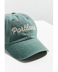 Urban Outfitters - Green Portland Raglan Wash Hat - Lyst