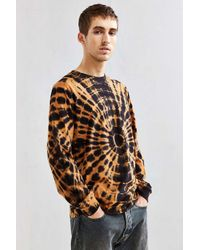 Urban Outfitters | Orange Uo Dye Effect Long Sleeve Tee for Men | Lyst