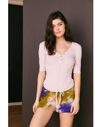 Out From Under - Purple Jordan Henley Top - Lyst