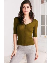 Out From Under | Green Jordan Henley Top | Lyst