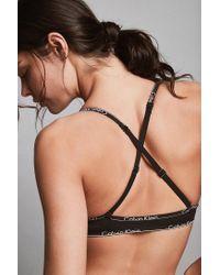 Calvin Klein - Black Id Cotton Triangle Bra - Lyst