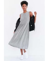 Truly Madly Deeply | Gray Babydoll Muscle Tee Midi Dress | Lyst