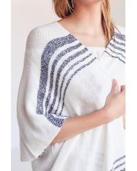 Ecote - White Lauren Yarn Stripe Cardigan - Lyst