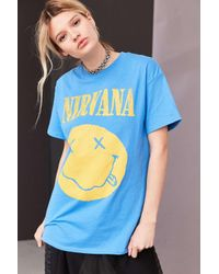 Urban Outfitters | Blue Nirvana Smiley Tee | Lyst