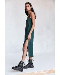 Cooperative - Green Daphne Scoop-back Midi Slip Dress - Lyst