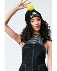Urban Outfitters | Black Road Trip Pompom Beanie | Lyst