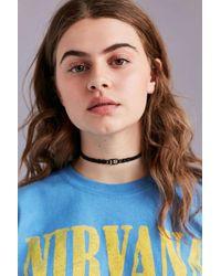 Urban Outfitters | Black Beaded Hemp Choker Necklace | Lyst