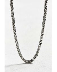 Urban Outfitters | Metallic Uo Flat Square Chain | Lyst