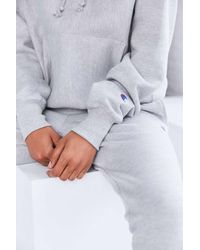 Champion | Gray + Uo Mini Logo Hoodie Sweatshirt | Lyst