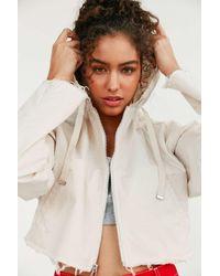 BDG | White Pixie Cropped Hoodie Jacket | Lyst