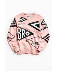 Umbro | Pink X House Of Holland Logo Crew Neck Sweatshirt for Men | Lyst