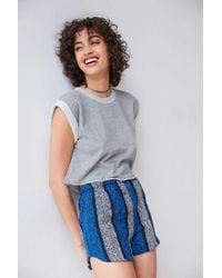 Truly Madly Deeply   Gray Tina Roll Sleeve Top   Lyst
