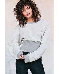 Silence + Noise   Gray Corset Pullover Sweatshirt   Lyst