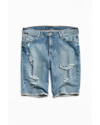BDG | Blue Destructed Stonewash Denim Short for Men | Lyst