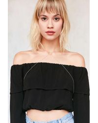 Urban Outfitters | Metallic Delicate Circle Body Chain | Lyst