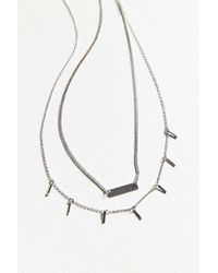 Urban Outfitters - Metallic Luxe Layering Necklace Set - Lyst