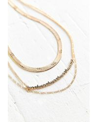 Urban Outfitters - Metallic Robin Layering Necklace Set - Lyst