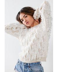 Kimchi Blue - Multicolor Fringe Pullover Sweater - Lyst