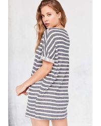 BDG | Blue Terry Stripe Tee Dress | Lyst