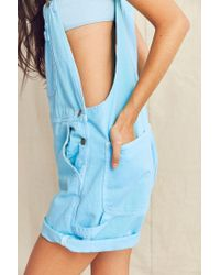 Urban Renewal - Blue Recycled '90s Overdyed Shortall Overall - Lyst